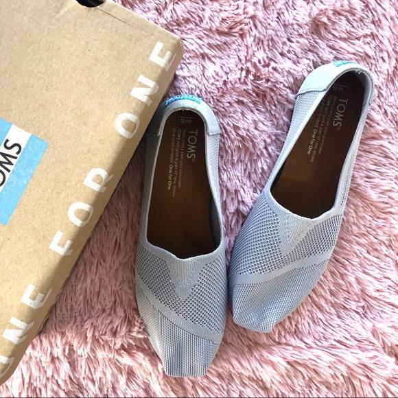 f29d62ba4f2 NWT TOMS Custom Knit Drizzle Grey Flats